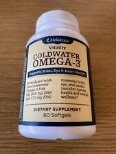 Melaleuca Vitality Coldwater Omega 3 Fish Oil 60 Softgels New Exp 10/22