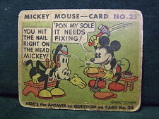 SCARCE 1935 MICKEY MOUSE BUBBLE GUM CARD #25