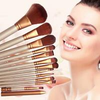 12Pcs Kabuki Professional Make Up Brushes Makeup Set Foundation Blusher Powder