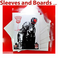 2000AD Comic Bags and Boards Clear Resealable/Tape for Weeklies  Tall Size4 x 10