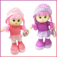 Rag Doll Rosie Girl Toys Baby Dolls Soft Toy Braided Hair Pink Hat Birthday Gift