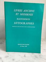 Catálogo De Venta Libros Antiguos Y Moderno Manuscritos Autógrafos 1979