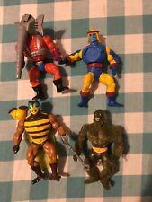 Vintage MOTU He-Man Figure Lot- Buzz-Off, Mossman, Snout Spout, & Sy-Klone
