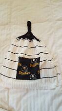Handmade NFL Pittsburgh Steelers Black Hanging Kitchen Hand Towel