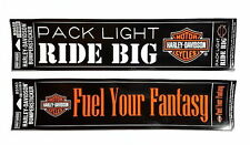 SET OF 2 HARLEY DAVIDSON LARGE BUMPER STICKERS BAR &  SHIELD - MADE IN THE USA