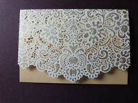 Lace Effect Cut Gift Money Vouchers Wallet Cards Envelope for Wedding Birthday