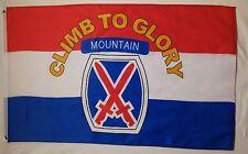 "3x5 10TH Mountain Division "" Climb To Glory "" flag 3'x5'"