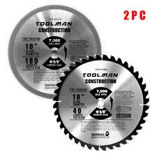 "Circular Saw Blade 10"" 5/8"" 40T & 180T 2 pcs for DeWalt & Makita Table Carbide"