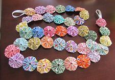 REproduction fabric  pastel 6 foot yo yo garland in 30's fabric