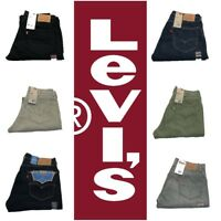 NEW DISCONTINUED MENS LEVIS 505 REGULAR FIT ZIPPER FLY JEANS PANTS MANY COLORS