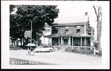 CHAMPLAIN QUEBEC Manoir Antic Restaurant & Rooms Vtg RPPC Postcard 1950's Cars