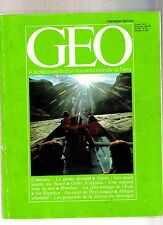 geo  magazine premiere edition - Numero 1  / geo Numero 1   1980