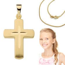 Kinder Echt Gold 585 Kommunion Konfirmation Firmung Baby Taufe Kreuz Anhänger