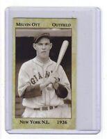 Mel Ott '26 New York Giants rookie year, New Orleans near-mint+ condition