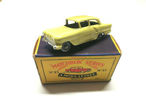 Matchbox Vauxhall Victor yellow RW 1-75 Nr 45 A in Mint incl OVP Excellent Top