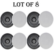 """Lot of 8) NEW Pyle PDIC66 6.5"""" In-Wall/In-Ceiling Speakers 200W 2Way Flush Mount"""