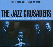 THE JAZZ CRUSADERS, 3 CD BOX SET, FREEDOM SOUND,LOOKIN' AHEAD, AT THE LIGHTHOUSE