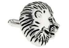 Lion Head Cufflinks Animal Cat Jungle Wedding Fancy Gift Box Free Ship USA
