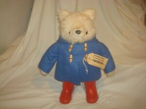 "Vintage Gabrielle Designs 19"" Paddington Bear with Boots and Coat England"