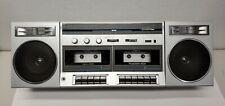 Vintage 80's Realistic Modulette 602 14-797 Dual Cassette AM FM Boombox Radio