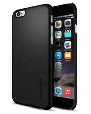 iPhone 6 Case, Spigen Thin Fit Extremely Thin Protective Cover- Smooth Black