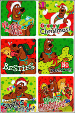 Scooby Doo Stickers x 6 - Foil Design - Christmas Stickers - Stockings Gifts