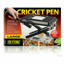 Exo Terra Reptile Cricket Livefood Keeper Pen Large New Live Food Box Tank
