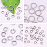 4-6-8mm Closed Jump Rings Silver Round Loop Loose Beads Findings Wholesale