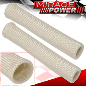 For Gmc 2Pc Spark Plug Wire Tube Insulator Thermal Wrap Jdm Vip High Temp Silver