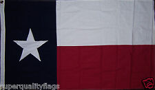 TEXAS 100% COTTON STATE OF FLAG EMBROIDERED STAR NEW 3x5 ft BRASS GROMMETS au