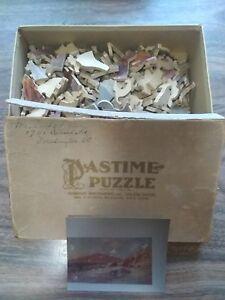 PASTIME PUZZLE PARKER BROS - GOLDEN GATE CALIFORNIA - 255 WOOD PIECES - 1943