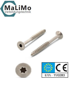 MaLiMo Spanplattenschrauben Edelstahl A2 V2A VA mit Torx Antrieb Tx ab 1 €