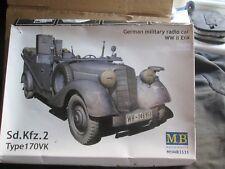 MB Modèles Militaires Allemands Radio Voiture WW2 Era (échelle 1:35) défait en boîte
