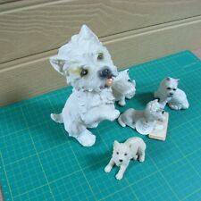 5 Westies - Various Sizes and Materials - All Very Good Condition