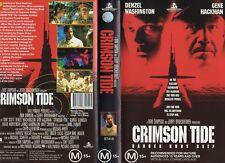 CRIMSON TIDE - Washington -VHS - PAL - NEW - Never played! - Original Oz release