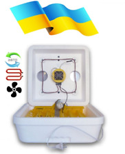Incubator with auto-turning eggs capacity up to 50 eggs 220V digital thermostat.