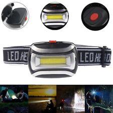 COB LED Headlamp Headlight Head Lamp Light Torch Flashlight Portable 3 Modes AAA