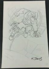 KELLEY JARVIS SPACE JAM Original Art Sketch One of a Kind 11x17 BUGS & BANG