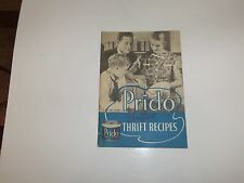 NICE 1930'S PRIDO SHORTENING RECIPES COOK BOOK. RARE.