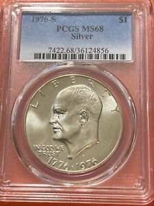 1976-S Eisenhower Silver Dollar PCGS MS68 (IKE SILVER DOLLAR)