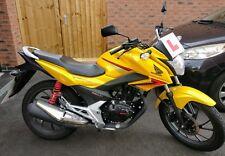 2015 Honda CB125F125cc (yellow - MOT May 2019 - low mileage) ideal learner bike