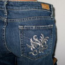 PAIGE PREMIUM Metallic Embroidered Pockets LAUREL CANYON 30 X 28 Jeans CUTE!