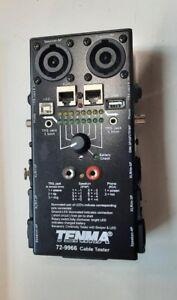 AV Cable Tester TENMA XLR Speakon phono USB RJ45 TRS Jack DMX Audio