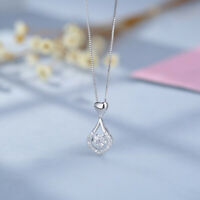 Twinkling Heart Water drop Stone Necklace Jewellery Gifts Lady Girls 2019
