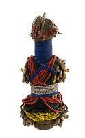 Muñeca Jamón Pilu Fali Estatua Africana Camerún Cuentas Africanas -952 G3