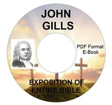 JOHN GILLS EXPOSITION OF ENTIRE BIBLE-CD eBook PDF-Kindle-iPhone Droid Compatibl