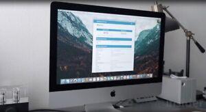 Apple 21.5 iMac Intel i5 2.3 GHz 256GB SSD 8Gb Ram 2017 Warranty Office Upgraded