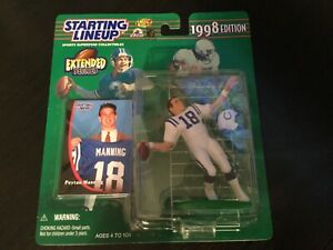 PEYTON MANNING Colts Starting Lineup SLU NFL 1998 Extended Action Figure & Card