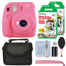 Fujifilm Instax Mini 9 Instant Film Camera Flamingo Pink + 40 Film Accessory Kit