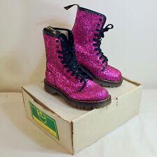 Vintage Dr Martens Purple Glitter Boot UK 4 US 6 | 10 Eye Doc Pascal England